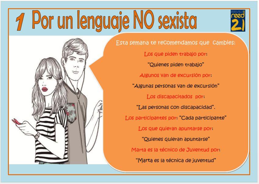 1. lenguaje no sexista