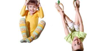niños en gimnasio